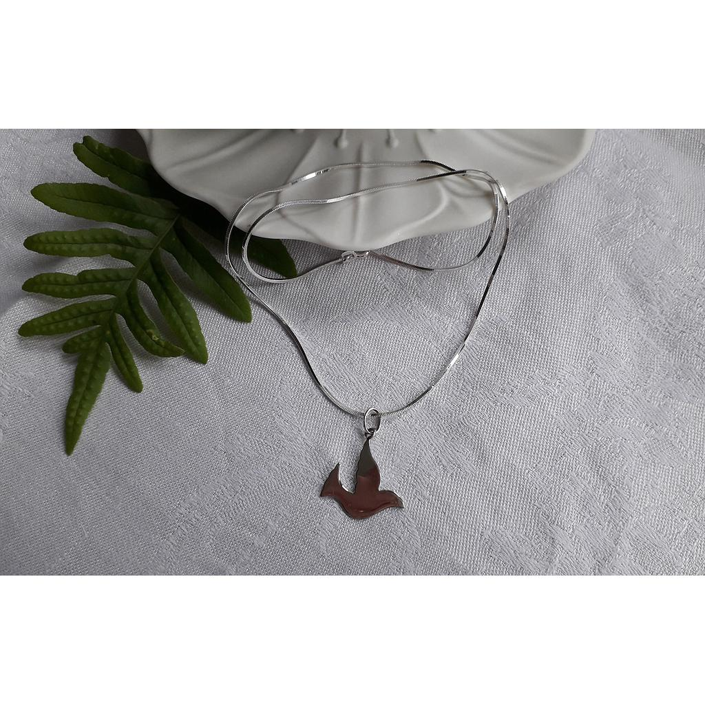 Collier Colombe en argent massif